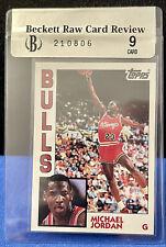 1992/93 Topps Archives #52 Michael Jordan Glossy BGS 9.0 1984 Rookie Beckett Raw