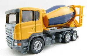 Siku 1896 - Scania Construction Cement Mixer Truck 1:87 Diecast - H0 Scale 1:87