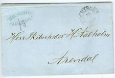 DENMARK/NORWAY: Unpaid cover from Elsinore to Norway 1866.