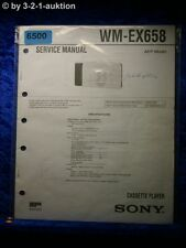 Sony Service Manual WM EX658 Cassette Player (#6500)