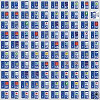 50 Stickers autocollant plaque d'immatriculation départements au choix