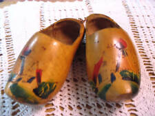 Wall Hanging Decorative Clogs Wooden Vintage Original String Attaches For Hangin