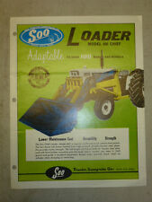 VINTAGE SOO LOADER, Model 660 CHIEF for TRACTORS, SALES BROCHURE