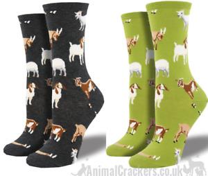 Womens Socksmith 'Silly Billy' design socks One Size Goat lover stocking filler