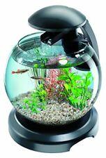 Cascade Globe Black, LED Filtered Glass Aquarium 6.8 Litre
