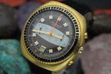 Vintage JULES JURGENSEN Chronograph Valjoux 7734 Jurgentron Gold Plaque Watch