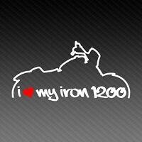 Harley Davidson Iron 1200 Love Silhouette Motorrad Aufkleber Sticker 15x8cm