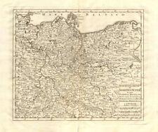 'Nuova Carta del Circolo di Sassonia Superiore' by Isaak TIRION 1740 old map