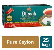 Dilmah Premium Pure Natural Ceylon Black Tea - 25/50/100 High quality Tea Bags