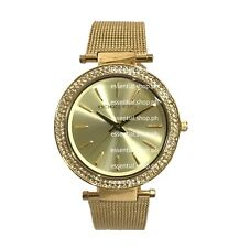 PRE-ORDER Michael Kors Darci Gold-Tone Mesh Strap Three Hand Watch MK3369