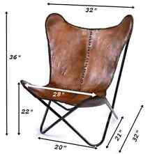 LEATHER BUTTERFLY HAND MADE CHAIR FRAME- FRAME ONLY