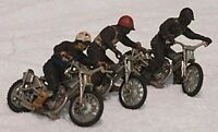3 x VINTAGE BRITAINS SPEEDWAY MOTORBIKES MOTORCYCLES WITH RIDERS