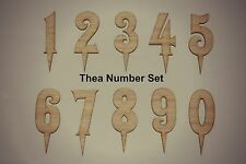 Birthday Number Cake Topper, Wooden,  Any Single Number 1,2,3,4,5,6,7 ,8 9, 0,