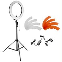 """Neewer Photo Studio 18"""" LED SMD Ring Light with Light Stand Color Filter"""