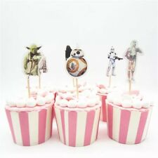 12 x Star Wars Cupcake Toppers Cake BB8 R2D2 Kids Party Birthday