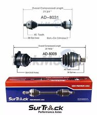 For Audi A6 FWD Quattro AWD 98-04 Pair of Front CV Axle Shaft Assy SurTrack Set