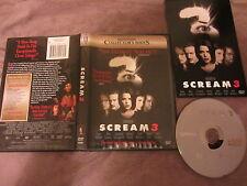 Scream 3 de Wes Craven avec David Arquette, DVD Z1 US, Horreur