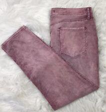FREE PEOPLE Cropped Skinny Jeans 31 Purple Cotton Stretch 5 Pocket Capri