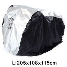Bike Cover Nylon UV Snow Waterproof Bicycle Outdoor Rain Protector for 3 Bikes