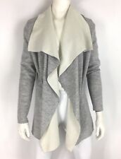 Vineyard Vines Womens Reversible Waterfall Cardigan Gray Heather Wool Size S NWT