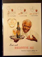 Ballantine Ale, Vintage Original Print Ad 1948