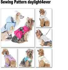 Dog Pet Coat Vest Dress Clothes Sewing Pattern 6218 McCall's New #x