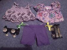 Purple bundle of Build-a-bear clothes