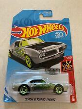 2018 Hot Wheels HW Flames Custom '67 Pontiac Firebird ZAMAC #12