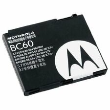 Authentic New Oem Motorola Bc60 Battery for C257,C261,L2,L6,Razr V3x,Slvr L7, L9