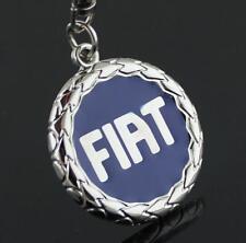 For Fiat Blue Logo Key Ring Chain Car Titanium Keyring Keychain Key Chain
