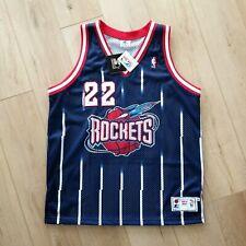 100% Authentic Clyde Drexler Vintage Starter Rockets Jersey Size 48 XL Mens
