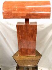 Karl Springer Mid Century Modern Red Tessellated Bone Table Desk Lamp Eames Era