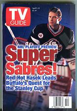 TV Guide April 5-11 1997 NHL Playoff Preview Dominik Hasek Sabres EX 011516jhe