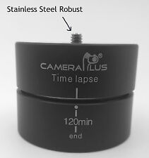 UK Store! CameraPlus® 360° 120 Minutes Panning Rotating Tripod Time Lapse