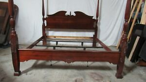 Kincaid Cherry Poster Bed King Queen Carved