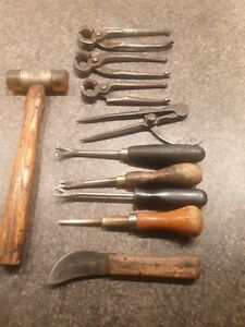 10 Vintage Upholster's / Leather Workers Hand Tools.