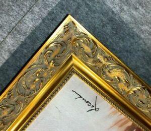 "3"" Gold Ornate Wood Picture Frame 1217G frames4art ready made gold leaf 30x36"