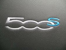 Fiat 500S 08-15 Interior (Front Seats & Door Cards) Black with Cyan Blue Accents