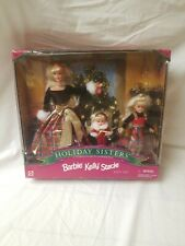 Holiday Sisters Gift Set Barbie Kelly Stacie NRFB 1998 Special Edition MIB