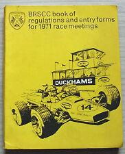 BRSCC libro de reglamentos & formularios de entrada para reuniones de carreras de 1971