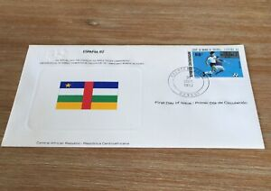 1982 Espana 82 Soccer World Cup  Central Africa Fdc