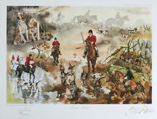 More details for foxhunting foxhound fox hunting horse limited edition print - by gillian harris