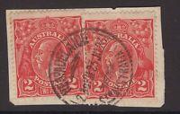 South Australia ADELAIDE postmark on KGV 2d x 2