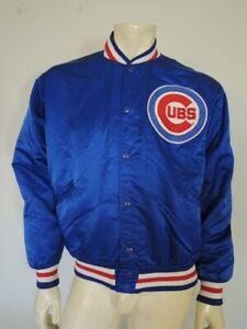 Vintage CHICAGO CUBS Blue Felco Snap Team Starter Jacket Size LARGE