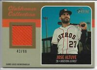 2019 Topps Heritage High Number Jose Altuve Gold Jersey Relic #'d 43/99 Astros