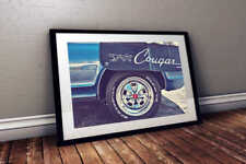 1969 Mercury Cougar 24x36 American Muscle Poster Print