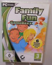 Family Fun Game Box PC Spiel Software CD-ROM 6x Spielspaß Hits für Familie T97