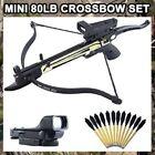 NEW 80 LB ARCHERY HUNTING Gun SELF COCKING PISTOL CROSSBOW w ARROW BOLTS + Scope