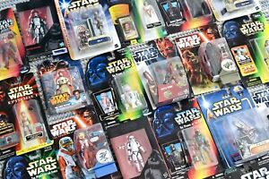 STAR WARS MIXED CHARACTER CARDED FIGURES POTF2 & 30th ANNIVERSARY (A)