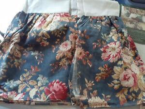 RALPH LAUREN Chadwick TWIN BEDSKIRT-New Old Stock-Ocean Wash-Blue Floral